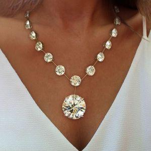 Round Cut Pendant Necklace