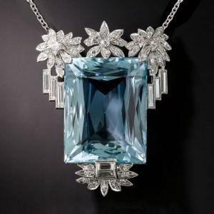 Aquamarine Pendent Necklace