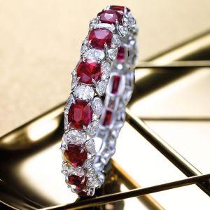 Ruby Sapphire Oval & Pear Cut Bracelet