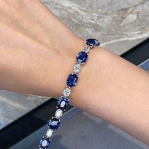 Blue & White Sapphire Tennis Bracelet