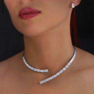 Elegance Open Design Necklace & Earrings Set