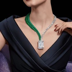 Unique Design Emerald Cut Pendant Necklace