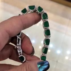 Classic Emerald Tennis Bracelet