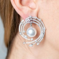 Sapphire And Pearl Earrings