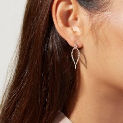 Pear Shaped Round Cut Cuff Earrings