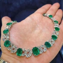 Emerald & Marquise Cut Necklace