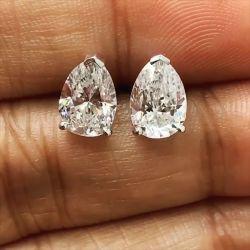 Pear Shaped Stud Earrings