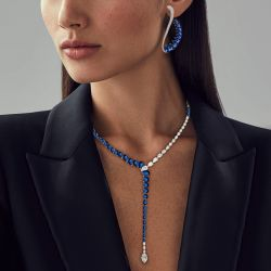 blue sapphire earrings and necklace set