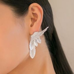 Feather Design Fritillaria Earrings