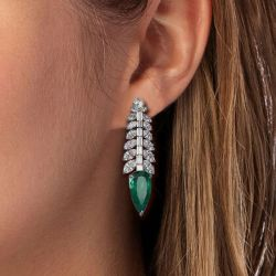 Unique Marquise & Baguette Drop Earrings