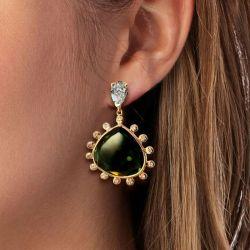 Christmas Tree Design Olive Sapphire Drops