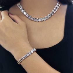 Baguette Cut Necklace & Bracelet Set