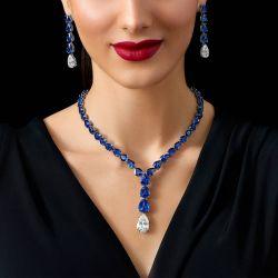 Pear Cut Necklace & Earrings Set