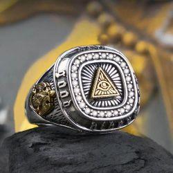 Open Design The Eye Of God Resizable Ring
