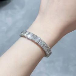 Classic Radiant Cut White Sapphire Bracelet