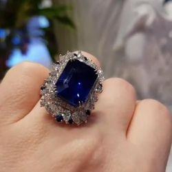 Halo Emerald Cut Engagement Ring